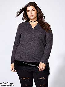mblm - Hoodie with Velour and Lace