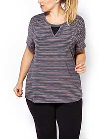 Essentials - Plus-Size Striped T-Shirt