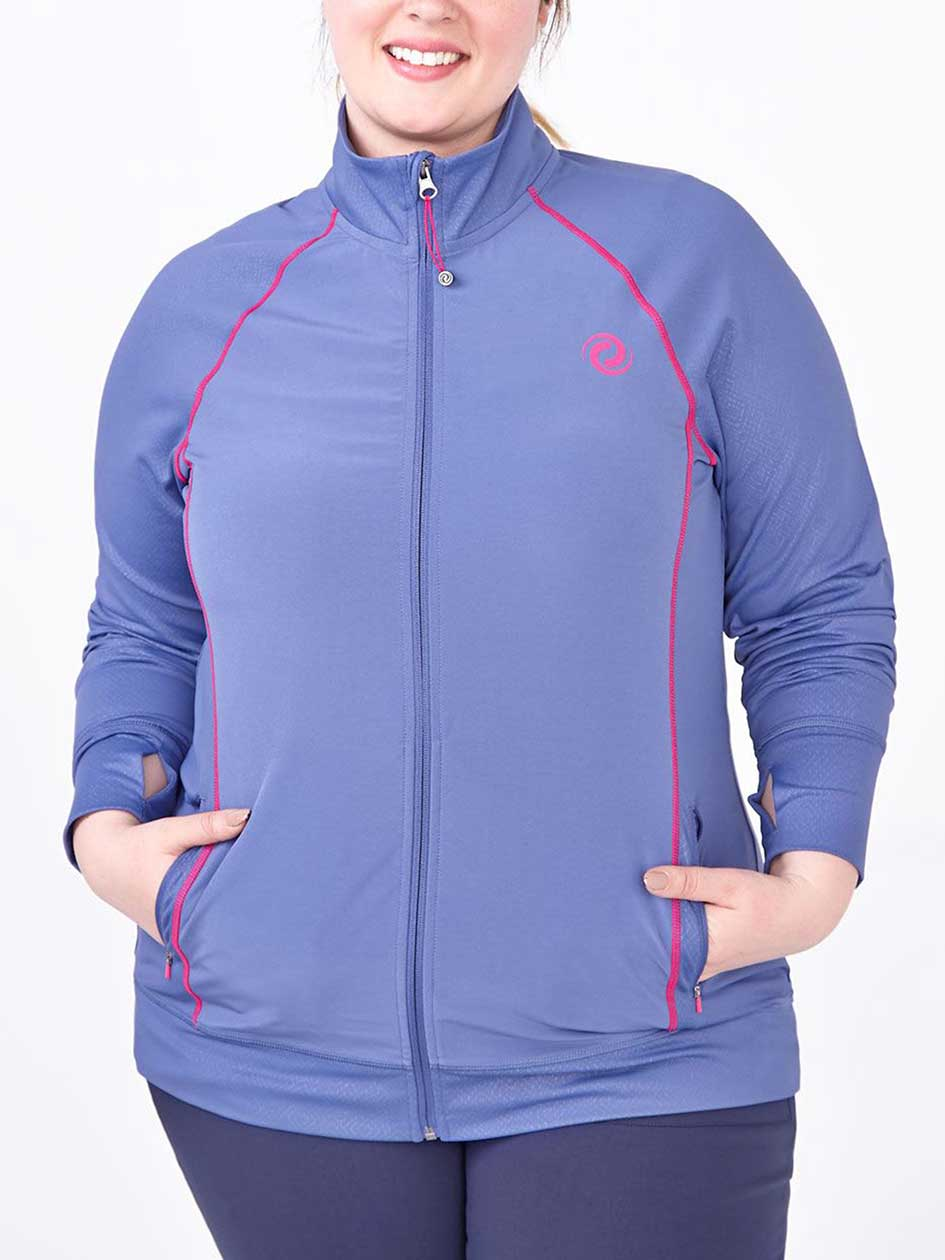 Sports - Long Sleeve Plus-Size Golf Jacket