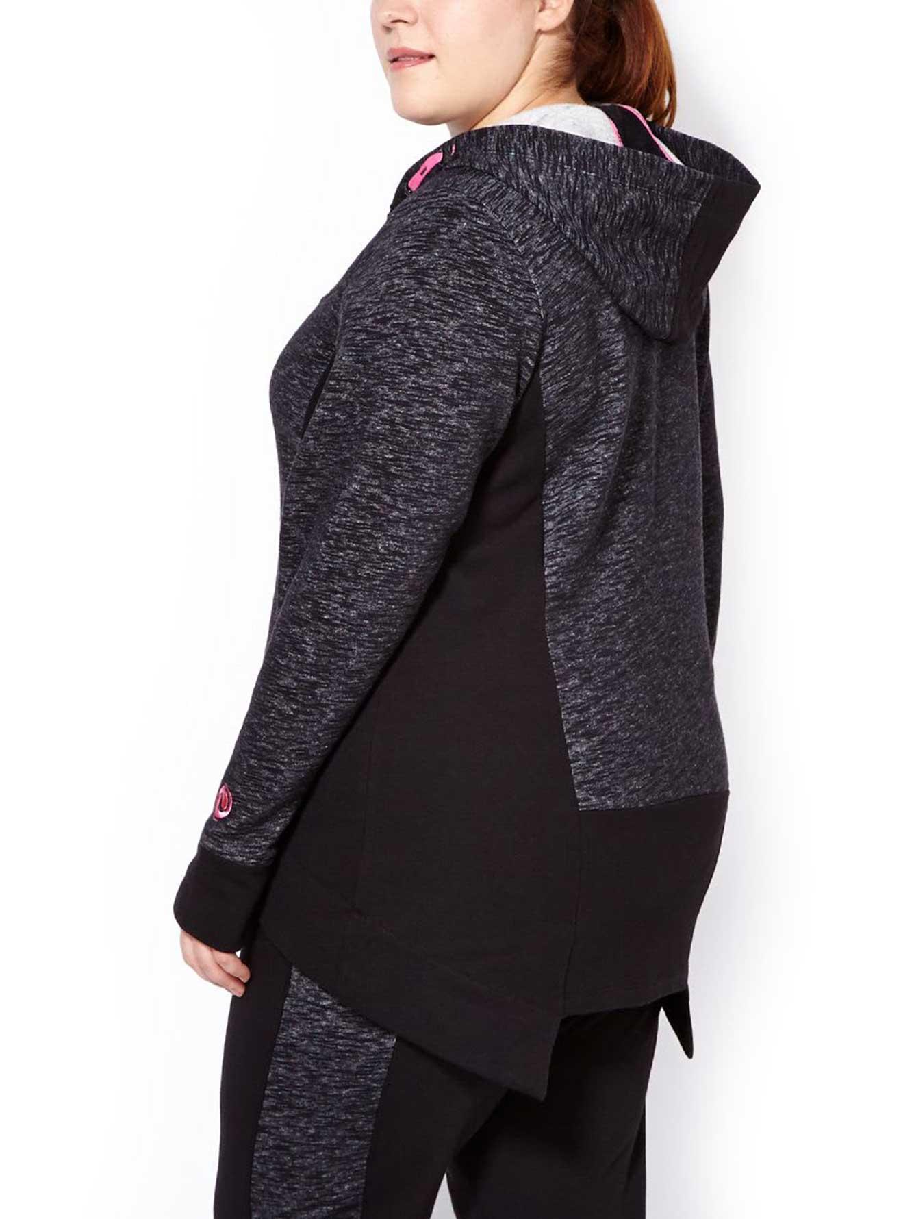 Plus size long hoodie