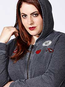 mblm Zip Up Hoodie with Patches