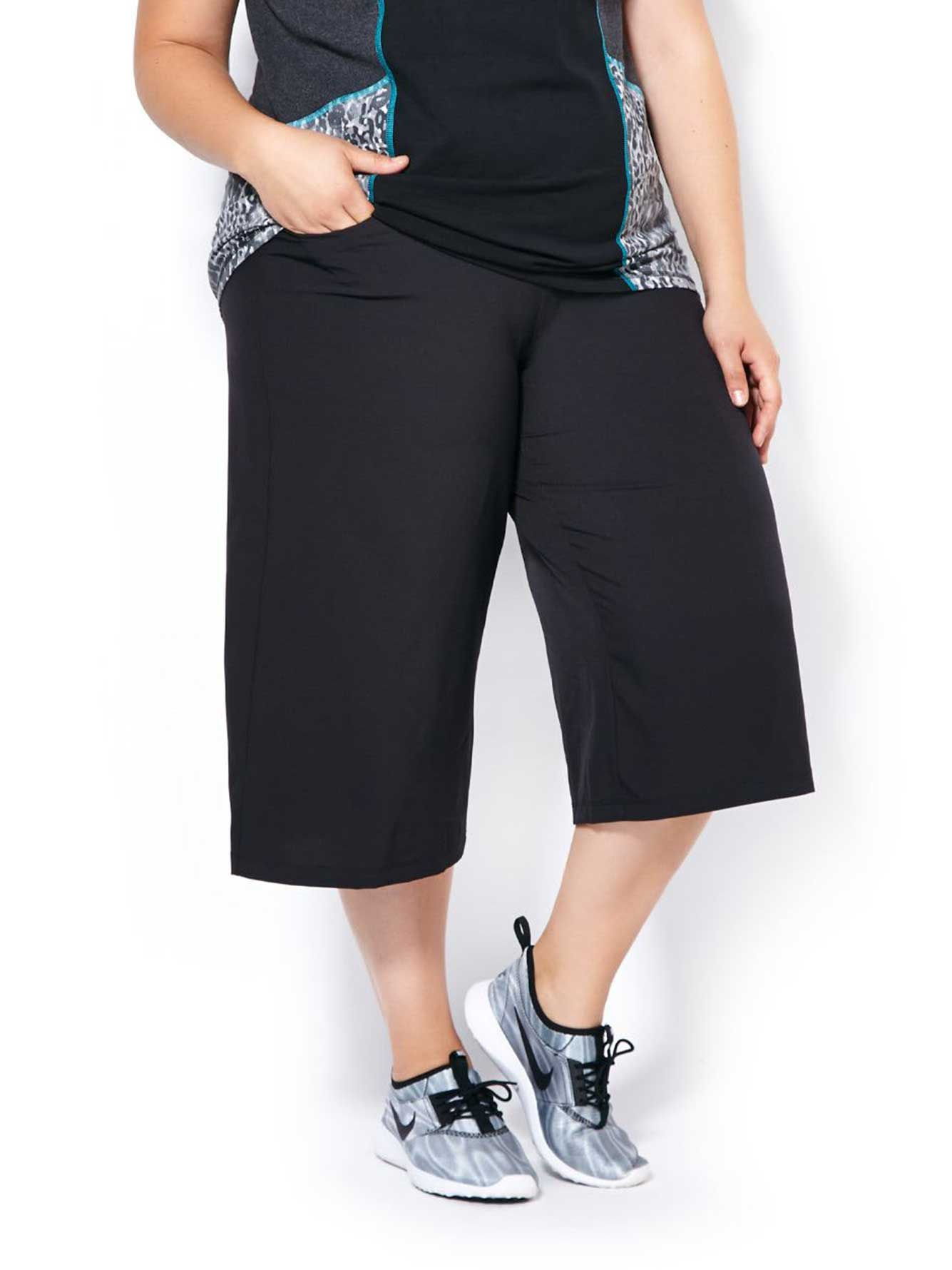 Essentials - Plus-Size Gaucho Capri | Penningtons
