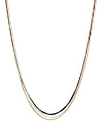 3-row mesh chain necklace