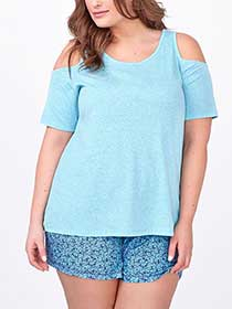 Ti Voglio Cold Shoulder PJ T-Shirt