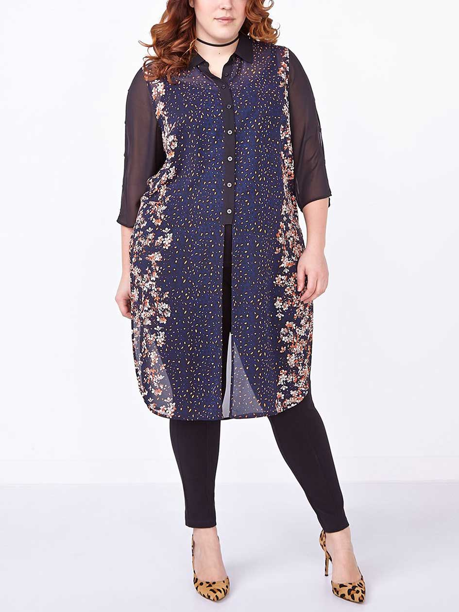 3/4 Sleeve Printed Tunic