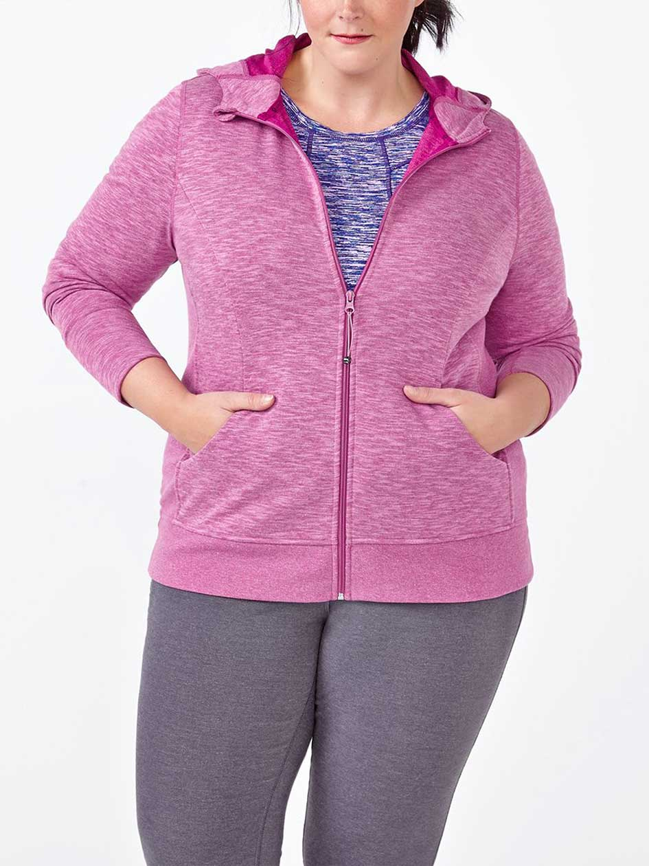 Essentials - Plus-Size Basic Zip Up Hoodie
