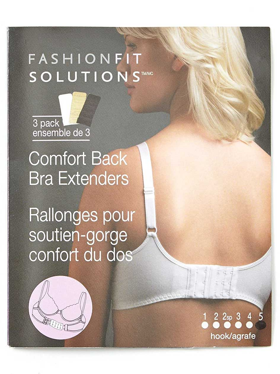 5-Hook Bra Extenders (Set of 3)