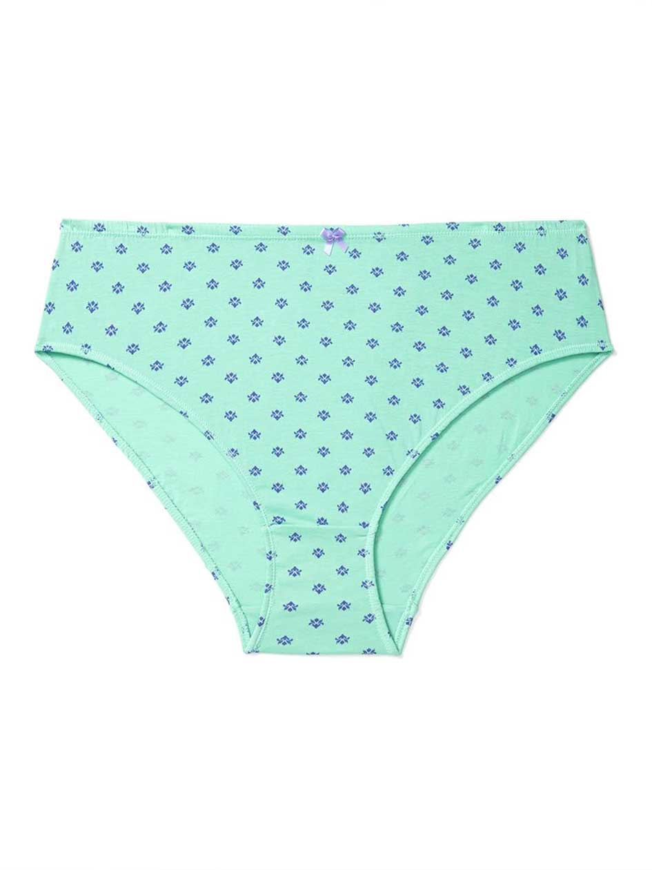 Ti Voglio Printed High Cut Cotton Panty