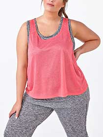 Essentials - Plus-Size Dual-Layer Tank Top