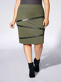 Tess Holliday - Ponte Skirt with Studs