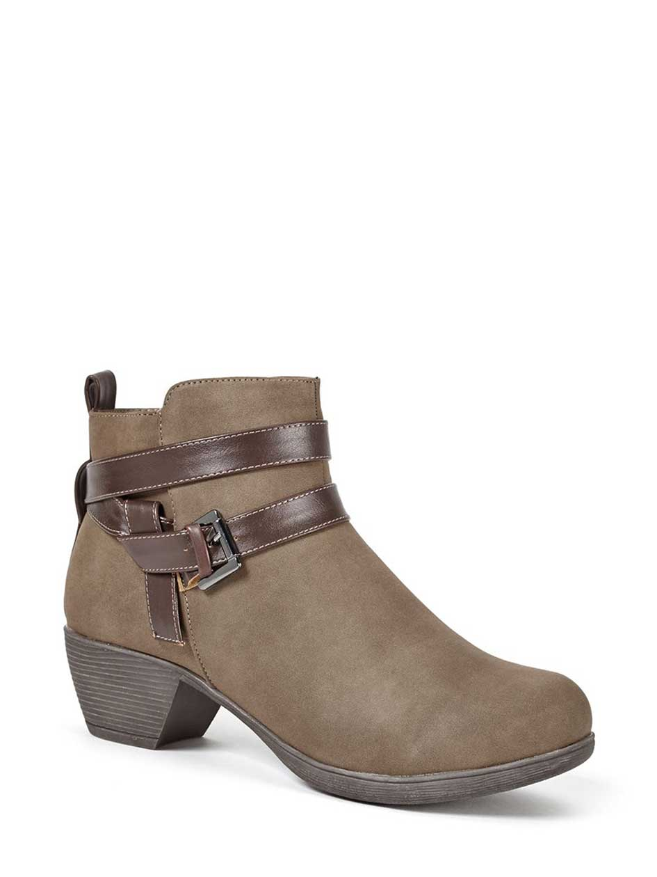 Wide-Width Ankle Strap Booties