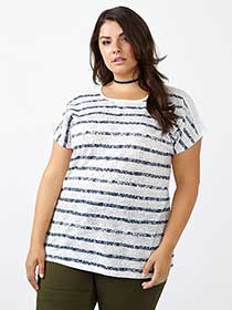 Girlfriend Fit Striped T-Shirt