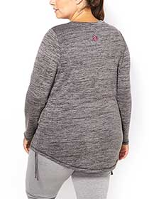 Athleisure - Plus-Size Long Sleeve T-Shirt