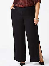 Wide Leg Pant with Slits