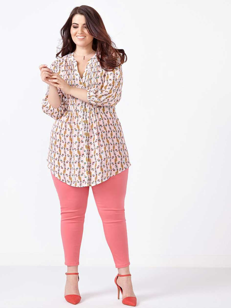 MELISSA McCARTHY Coloured Pencil Ankle Jean.Tea Rose.18