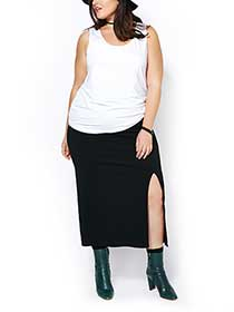 d/c JEANS Maxi Skirt with Slit