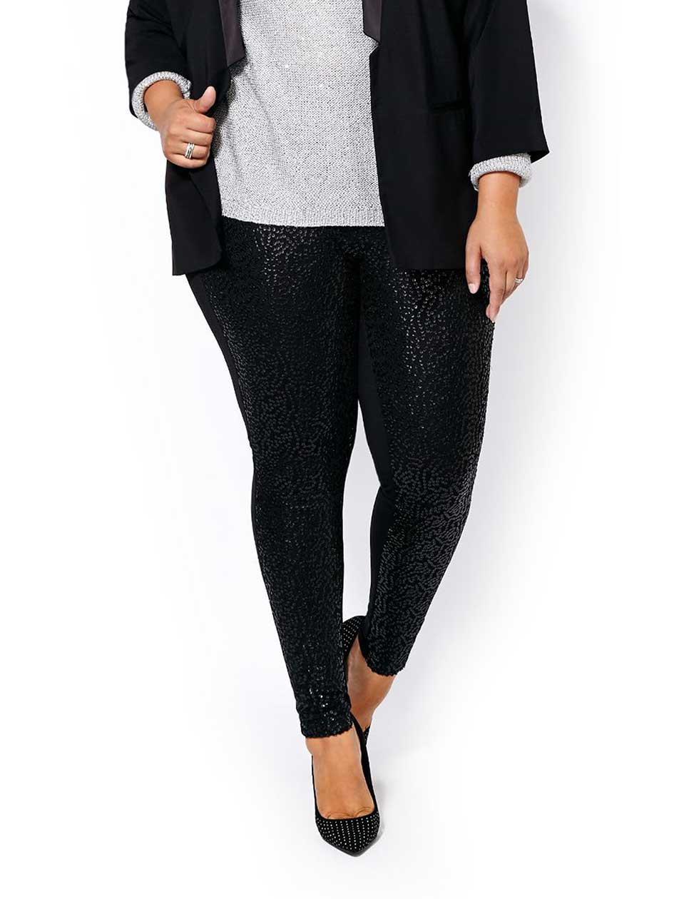 Sequin Front Legging