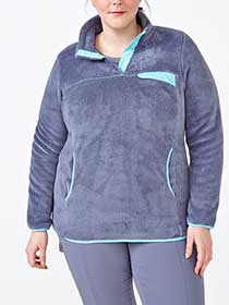 Sports - Plus-Size Plush Pullover