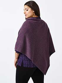 Chandail poncho en maille