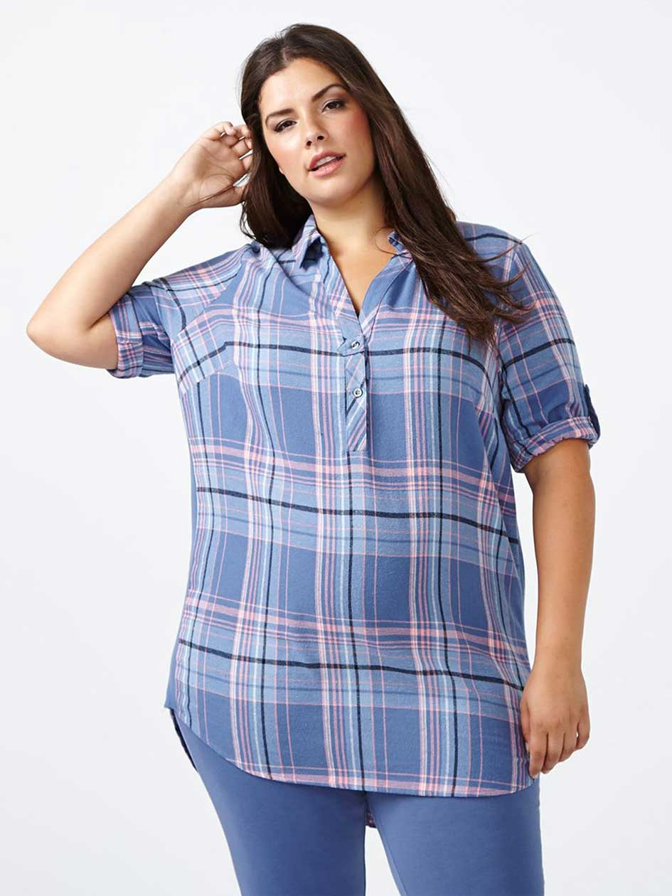 Ti Voglio Plaid Cotton PJ Tunic