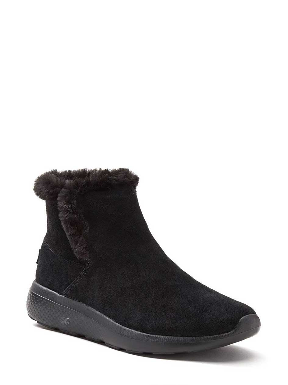 Skechers Wide-Width Booties with Faux-Fur
