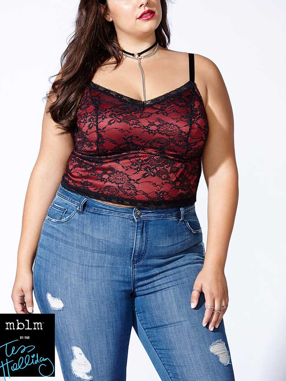 Tess Holliday - Camisole en dentelle
