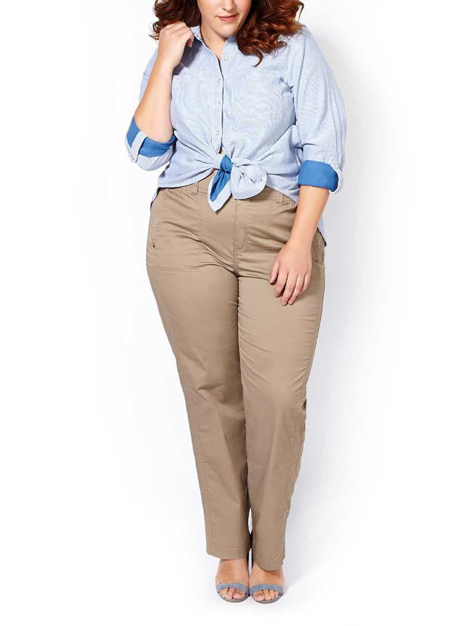 d/c JEANS Slightly Curvy Fit Straight Leg Pant