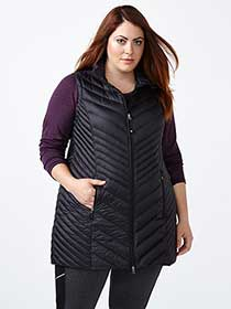 ActiveZone - Long Plus-Size Packable Vest