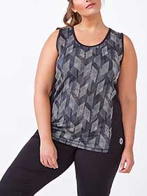 Essentials Tech - Plus-Size Printed Tank Top