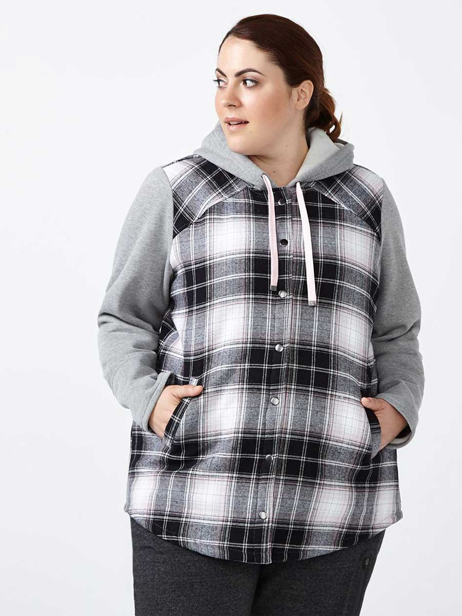 Sports - Plus-Size Plaid Jacket