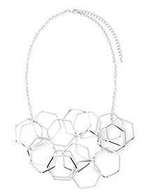 Short Necklace with Geometric Shapes