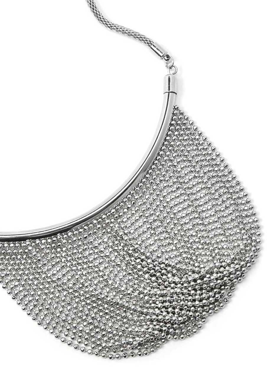 Short Necklace with Draped Chain