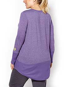 Sports - Plus-Size Long Sleeve Pullover
