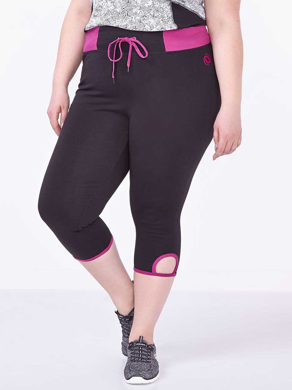 Essentials Tech - Legging capri taille plus