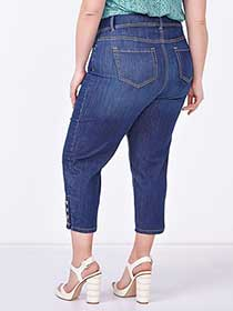d/c JEANS Slightly Curvy Fit Straight Leg Denim Capri