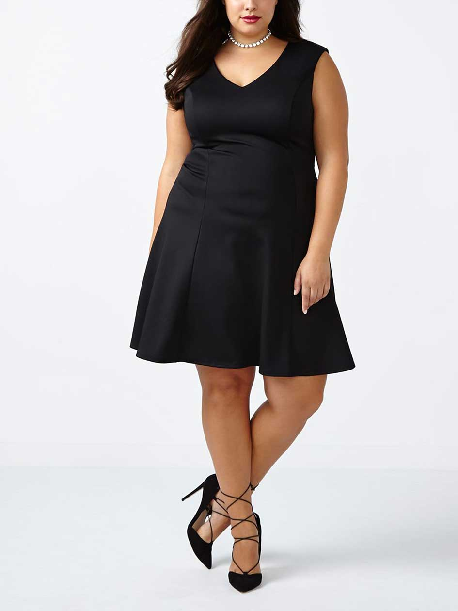 ONLINE ONLY Fit and Flare Scuba Dress