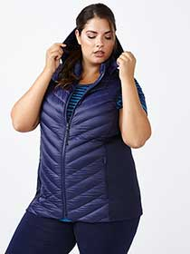 ActiveZone Plus-Size Packable Down Vest