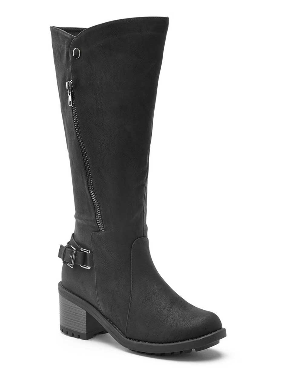 Wide-Width Faux-Leather Boots