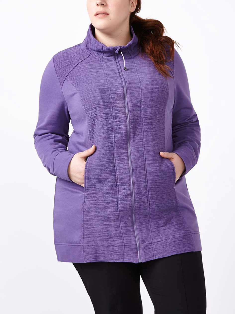 Sports - Plus-Size Zip Up Jacket