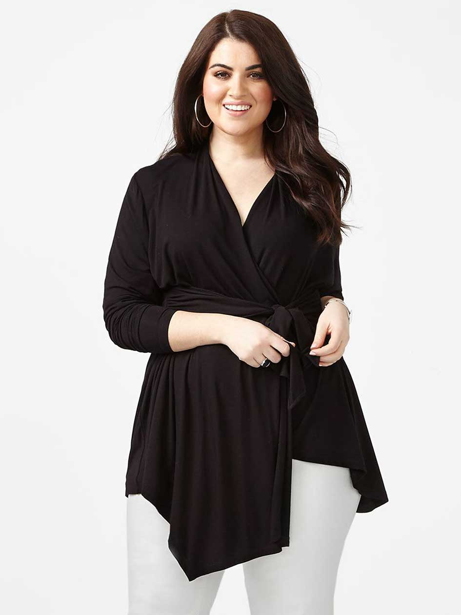 MELISSA McCARTHY Asymmetric Knot Front Top