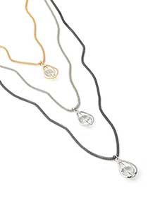 Multi-Chain Necklace with Pendants