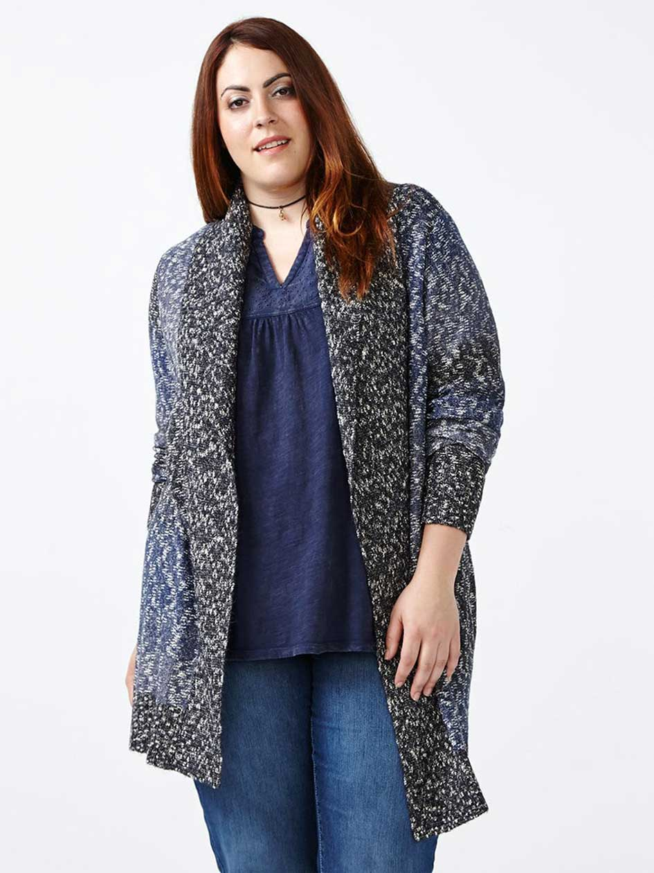 d/c JEANS Two-Toned Cocoon Cardigan
