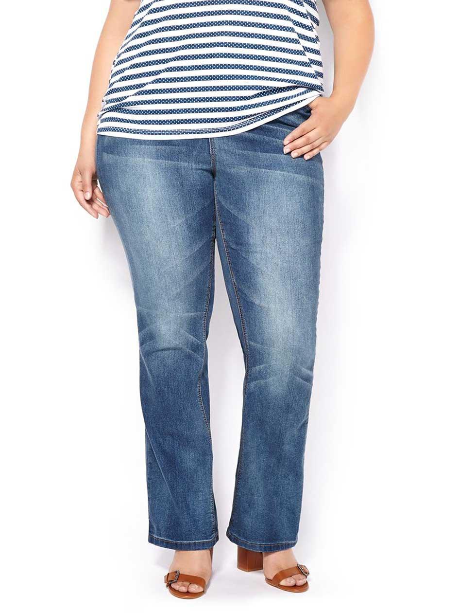 d/c JEANS Petite Slightly Curvy Fit Bootcut Jean