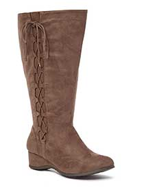 Wide-Width Tall Lace Up Boots