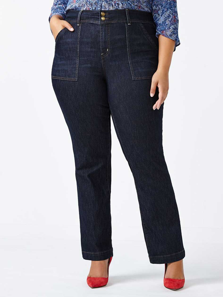 ONLINE ONLY - d/c JEANS Petite Slightly Curvy Fit Bootcut Jean