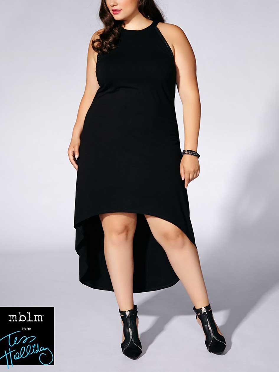 Tess Holliday - Sleeveless Halter Maxi Dress