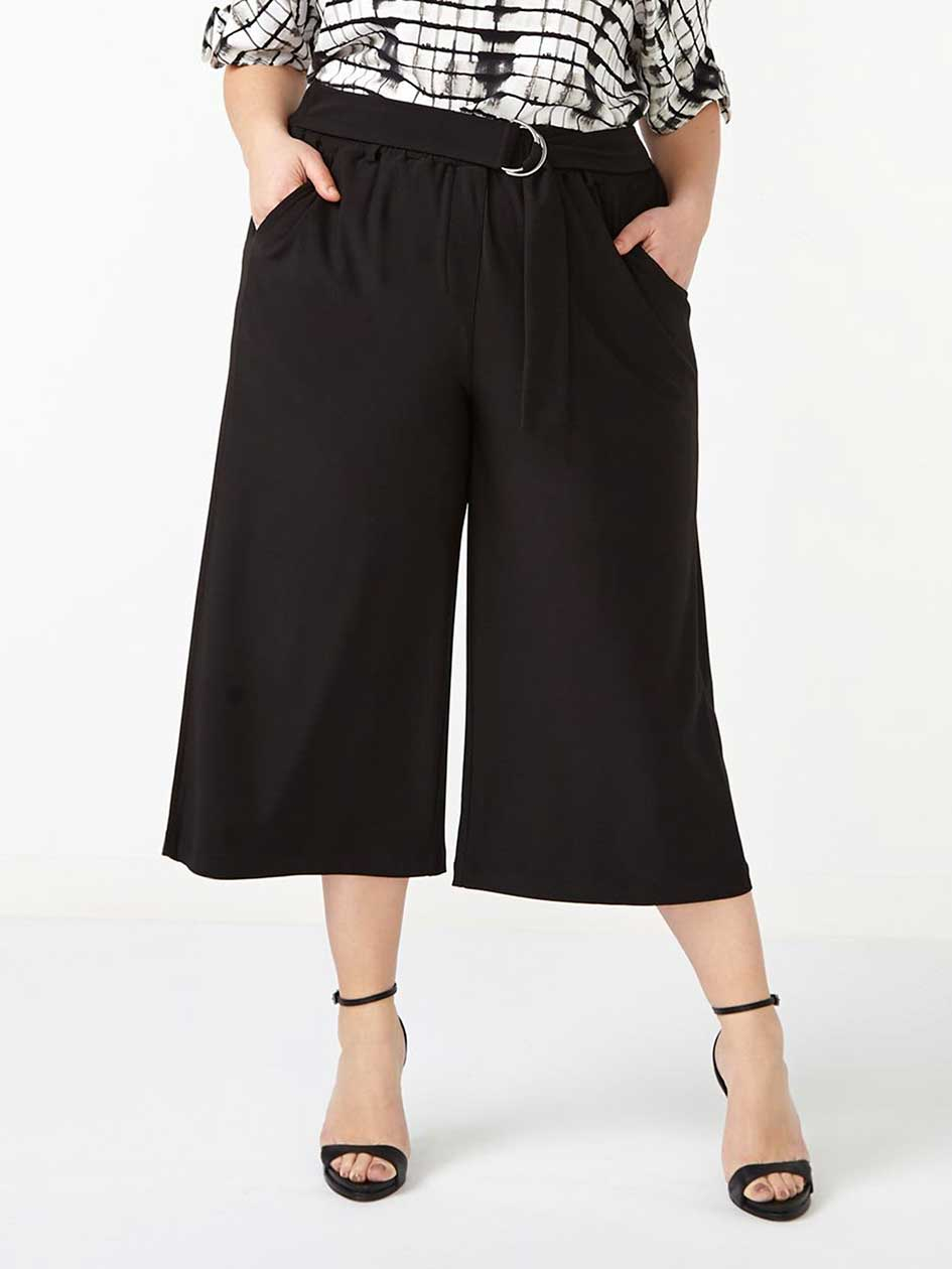 Wide Leg Culotte with Belt