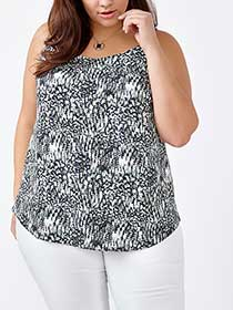 Printed Dual-Layer Shell Top