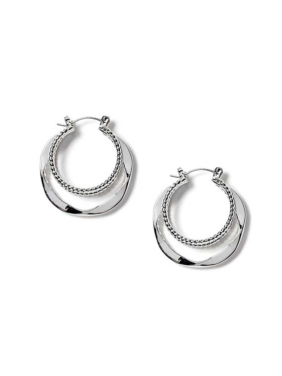 Multi-Hoop Earrings.Rhodium.1Size