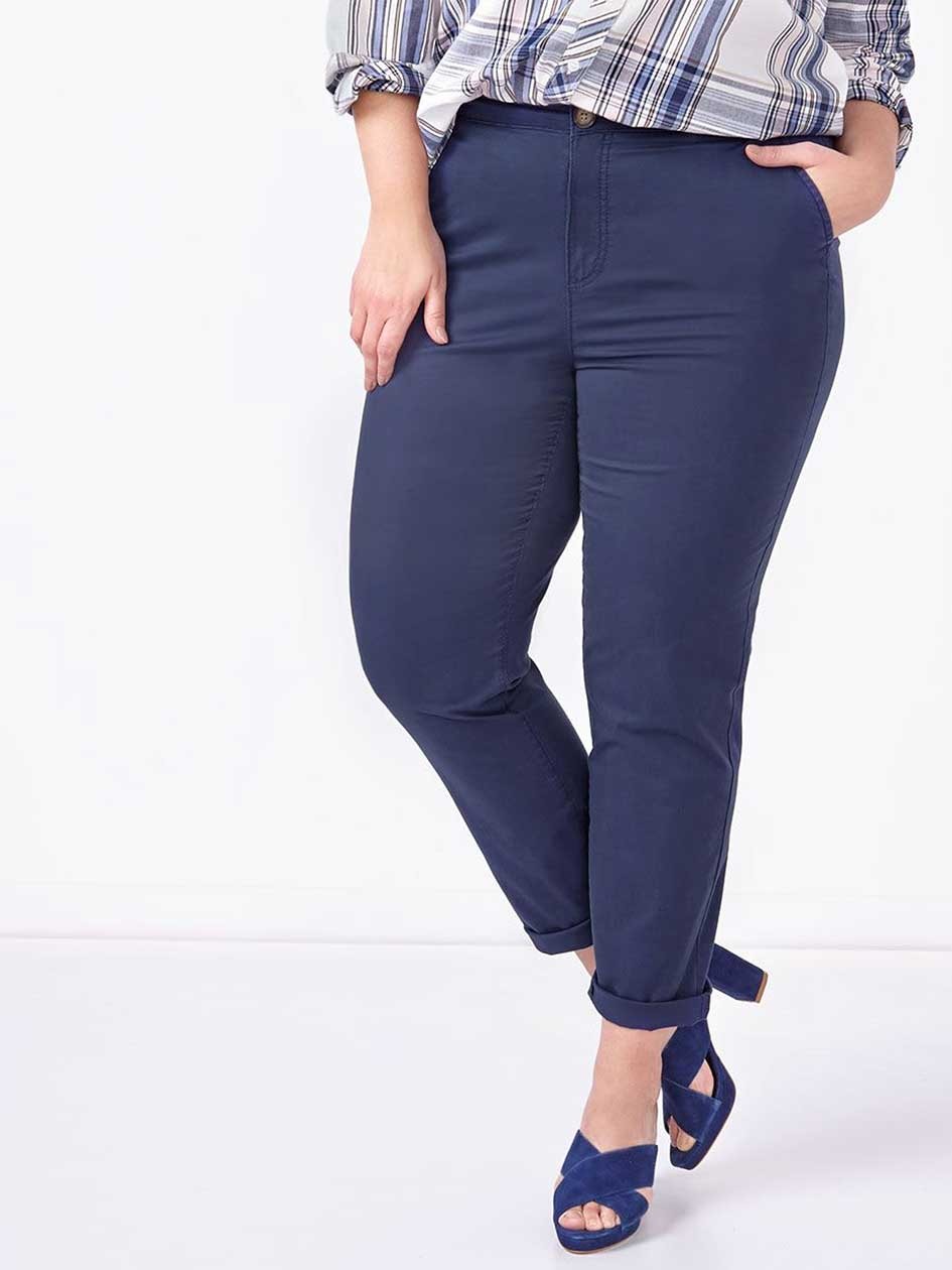 Slightly Curvy Fit Slim Leg Chino Pant